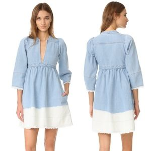 Ulla Johnson Alina Bleached Denim Mini Dress – 2